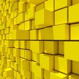 3d rendering of yellow cubic random level background. 3d rendering of acstract yellow cubic random level background Stock Images