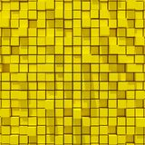 3d rendering of yellowl cubic random level background. 3d rendering of acstract yellowl cubic random level background Royalty Free Stock Photos