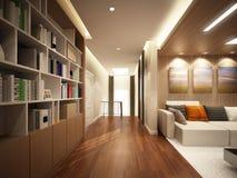 3d rendering żywy pokój Zdjęcie Royalty Free