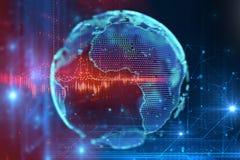 3d rendering ziemska futurystyczna technologia Zdjęcia Stock