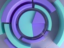 3d renderingu abstrakcjonistyczny geometryczny tło Diagrama kształt Nowożytny minimalistic egzamin próbny up, pusty szablon royalty ilustracja