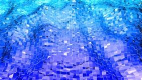 3d renderingu abstrakcjonistyczny geometryczny tło z nowożytnym gradientem barwi w niskim poli- stylu 3d powierzchnia z gradiente Ilustracja Wektor
