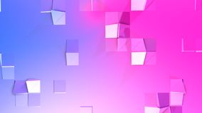 3d renderingu abstrakcjonistyczny geometryczny tło z nowożytnym gradientem barwi w niskim poli- stylu 3d powierzchnia z błękitną  Royalty Ilustracja