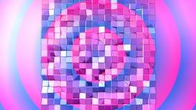 3d renderingu abstrakcjonistyczny geometryczny tło z nowożytnym gradientem barwi w niskim poli- stylu 3d powierzchnia z błękitną  Fotografia Stock