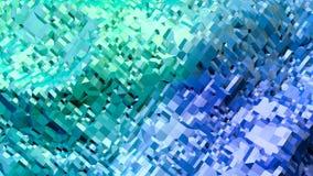 3d renderingu abstrakcjonistyczny geometryczny tło z nowożytnym gradientem barwi w niskim poli- stylu 3d powierzchnia z zielonym  Ilustracja Wektor