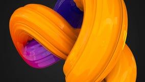 3d renderingu abstrakcjonistyczny tło z gładkim abstrakcjonistycznym cukierkiem Zdjęcia Royalty Free