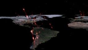 3D renderingu abstrakt światowa sieć, internet i globalny podłączeniowy pojęcie, Elementy ten wizerunek meblujący NASA Obraz Stock