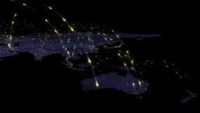 3D renderingu abstrakt światowa sieć, internet i globalny podłączeniowy pojęcie, Elementy ten wizerunek meblujący NASA Obrazy Royalty Free