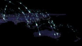 3D renderingu abstrakt światowa sieć, internet i globalny podłączeniowy pojęcie, Elementy ten wizerunek meblujący NASA Fotografia Stock