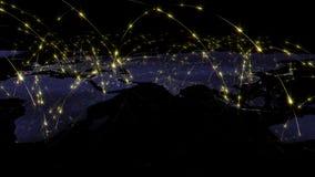 3D renderingu abstrakt światowa sieć, internet i globalny podłączeniowy pojęcie, Elementy ten wizerunek meblujący NASA Zdjęcia Royalty Free