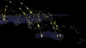 3D renderingu abstrakt światowa sieć, internet i globalny podłączeniowy pojęcie, Elementy ten wizerunek meblujący NASA Obraz Royalty Free
