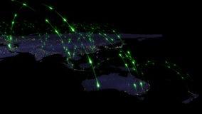3D renderingu abstrakt światowa sieć, internet i globalny podłączeniowy pojęcie, Elementy ten wizerunek meblujący NASA Fotografia Royalty Free