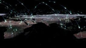 3D renderingu abstrakt światowa sieć, internet i globalny podłączeniowy pojęcie, Elementy ten wizerunek meblujący NASA ilustracja wektor