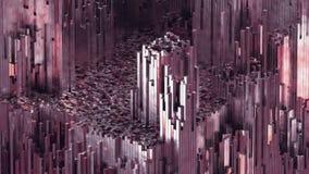 3D renderingu abstrakta różana kwarc blokuje tło z błyszczącym odbiciem ilustracji