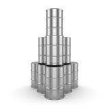 3D renderingu aluminium baryłka Zdjęcia Stock