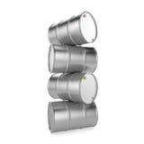 3D renderingu aluminium baryłka ilustracja wektor