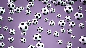 3D renderingu animaci sporta piłki spada od nieba tła royalty ilustracja