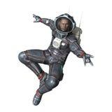 3D renderingu astronauta na bielu ilustracja wektor