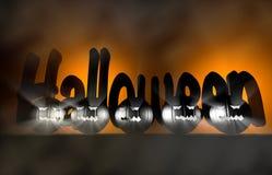 3d renderingu bania dla Halloween Zdjęcia Royalty Free