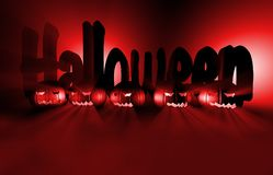 3d renderingu bania dla Halloween Obraz Royalty Free