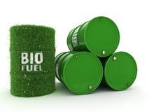 3D renderingu baryłki biofuels Fotografia Royalty Free