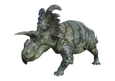 3D renderingu dinosaur Albertaceratops na bielu ilustracji