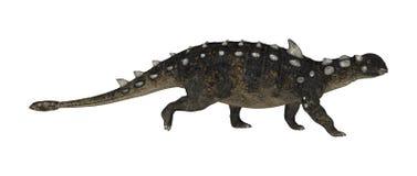 3D renderingu dinosaur Euoplocephalus na bielu royalty ilustracja