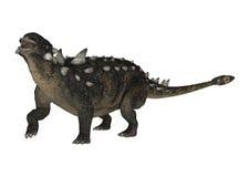 3D renderingu dinosaur Euoplocephalus na bielu ilustracji