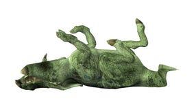 3D renderingu dinosaur Protoceratops na bielu Zdjęcia Stock