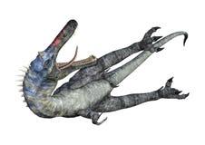 3D renderingu dinosaur Suchomimus na bielu ilustracji