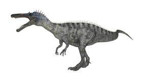 3D renderingu dinosaur Suchomimus na bielu Zdjęcie Stock