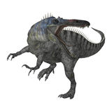 3D renderingu dinosaur Suchomimus na bielu Fotografia Stock