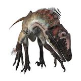 3D renderingu dinosaur Utahraptor na bielu Zdjęcia Stock