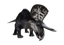 3D renderingu dinosaur Zuniceratops na bielu ilustracja wektor