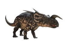 3D renderingu dinosaura Einiosaurus na bielu Obrazy Stock