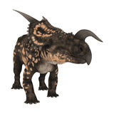 3D renderingu dinosaura Einiosaurus na bielu Zdjęcia Stock