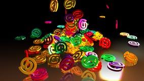 3d renderingu email Zdjęcia Royalty Free