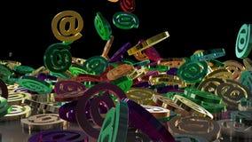3d renderingu email Obraz Royalty Free