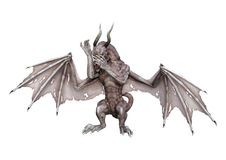 3D renderingu fantazi wampira smok na bielu Fotografia Royalty Free