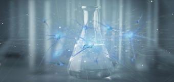 3d renderingu grupa odizolowywająca na medycznym tle neuron Zdjęcia Stock