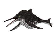 3D renderingu Ichthyosaur Shonisaurus na bielu Zdjęcie Stock