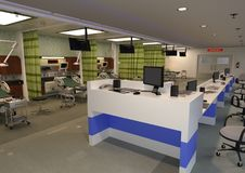 3D renderingu izba pogotowia Obrazy Stock