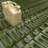 3D renderingu jerrycan Zdjęcie Royalty Free