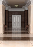 3D renderingu korytarza hotel Fotografia Royalty Free