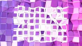 3d renderingu niski poli- abstrakcjonistyczny geometryczny tło z nowożytnymi gradientowymi kolorami 3D powierzchnia V3 Obrazy Stock