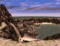 3D renderingu pirata skarb Islnad Zdjęcia Stock