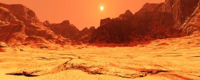 3D renderingu planeta Mąci Lanscape Obraz Royalty Free