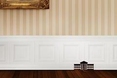 3D renderingu pomysł dla Białego przeszukania domu dla szczura royalty ilustracja