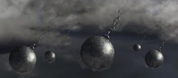 3D renderingu pomysł dla katastroficzego huraganu robi lądowi ilustracji