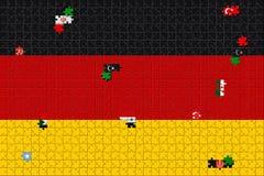 3D renderingu pomysł dla Niemcy ono zmaga się z kryzysem rozdzielenie versus wcielać wędrownicy royalty ilustracja